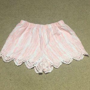 Barely worn LA hearts pink shorts size XS
